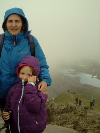Cold at the top of Snowdon